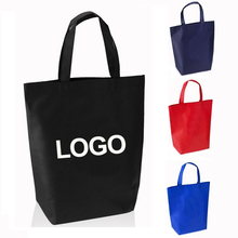 Eco-Friendly Durable Cheap Fair Trade Show Silk Screen Printed Large Non Woven Promotional Custom Tote Shopping Bag
