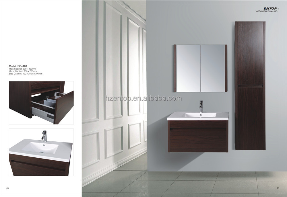 Bathroom furniture cabinet and bathroom with slim side bathroom cabinet