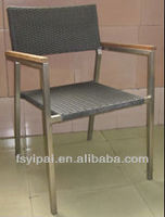 stainless steel rattan wood dining armchair wholesale