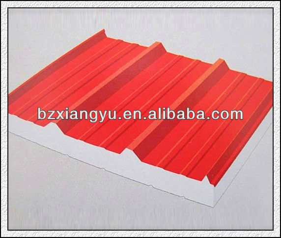 various color eps/polystyrene/polyurethane foam sandwich panel with great sound insulation