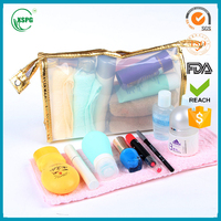 2016 Wholesale clear toiletry pouch waterproof PVC cosmetic bag for make up