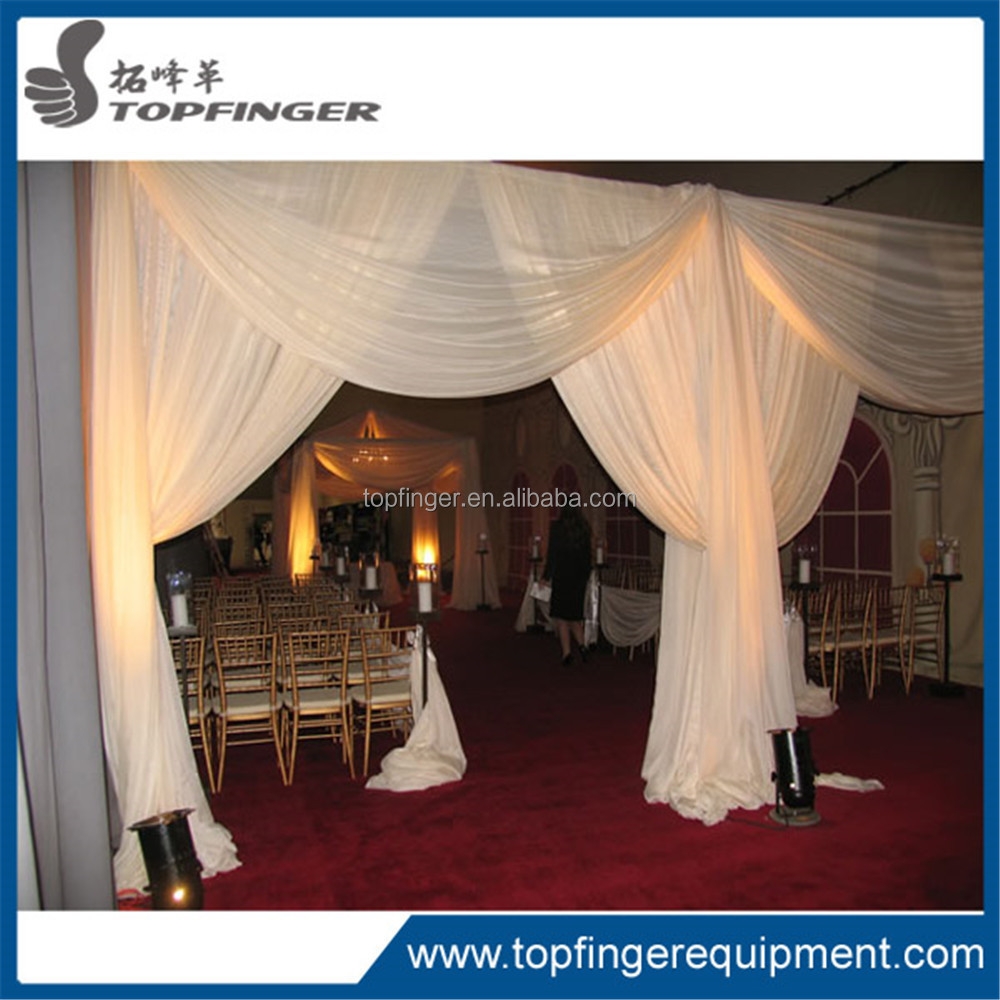TFR 100% Polyester/white and gold fabric/ latest wedding decoration