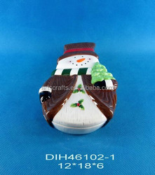 Funny snowman shaped ceramic cookie box
