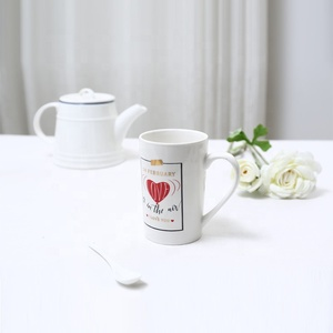 wholesale porcelain heart shaped antique custom wedding souvenirs coffee ceramic red cup and saucer set