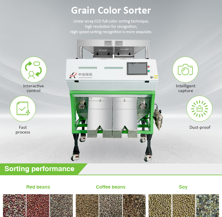 Simple Operation 5400 Megapixel Multifunction Intelligent Small Coffee Bean Color Sorter Machine Manufacture In China