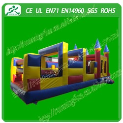 Colorful giant inflatable obstacle/inflatable obstacle course for children games(Running Fun)