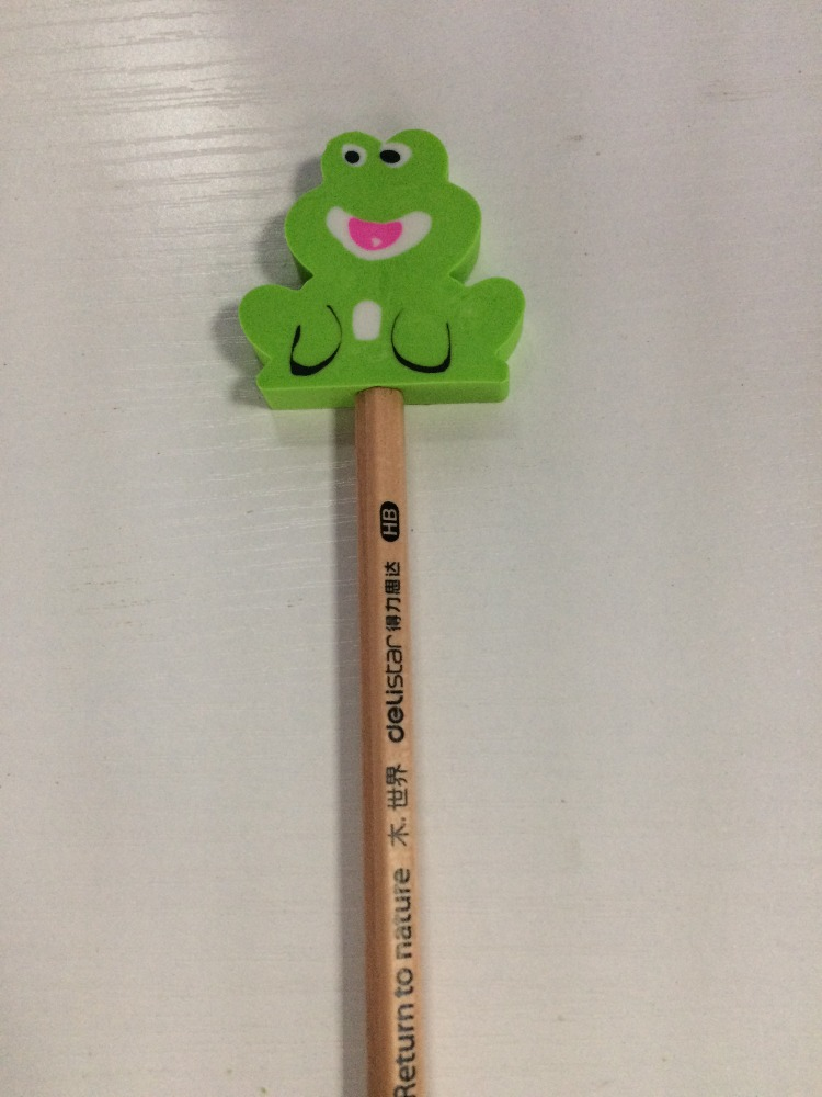 Promotional pen topper eraser pencil toppers
