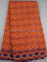 wholesale price swiss voile laces in switzerland/african big swiss lace SL02002 orange