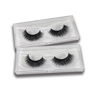 100% Own Brand Private Label Packaging 3D Soft Mink Strip Eyelashes