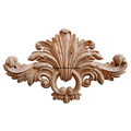 Quality Wood Carved Leaf and Ring Door Onlay PT3124