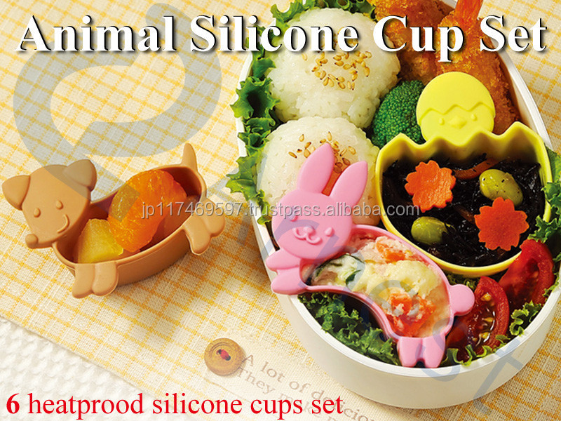 kitchen bento lunch boxes accessories tools cookware uetnsils animal silicone cases food sauce container case in set 75938