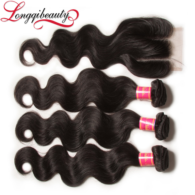 virgin mongolian hair cool hair extension with hair closure piece