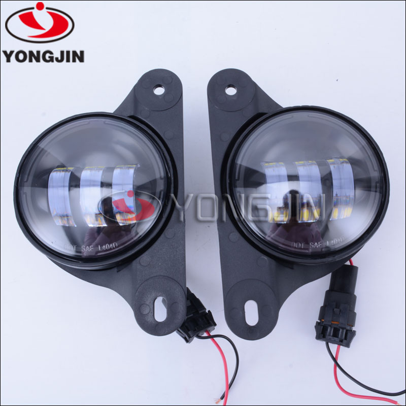 New design 1pair 4inch front fog lamp for jeep off road/truck accessories/4x4 parts
