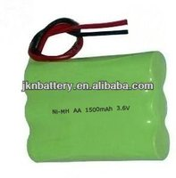 ni-mh battery pack aaa 600mah 3.6v