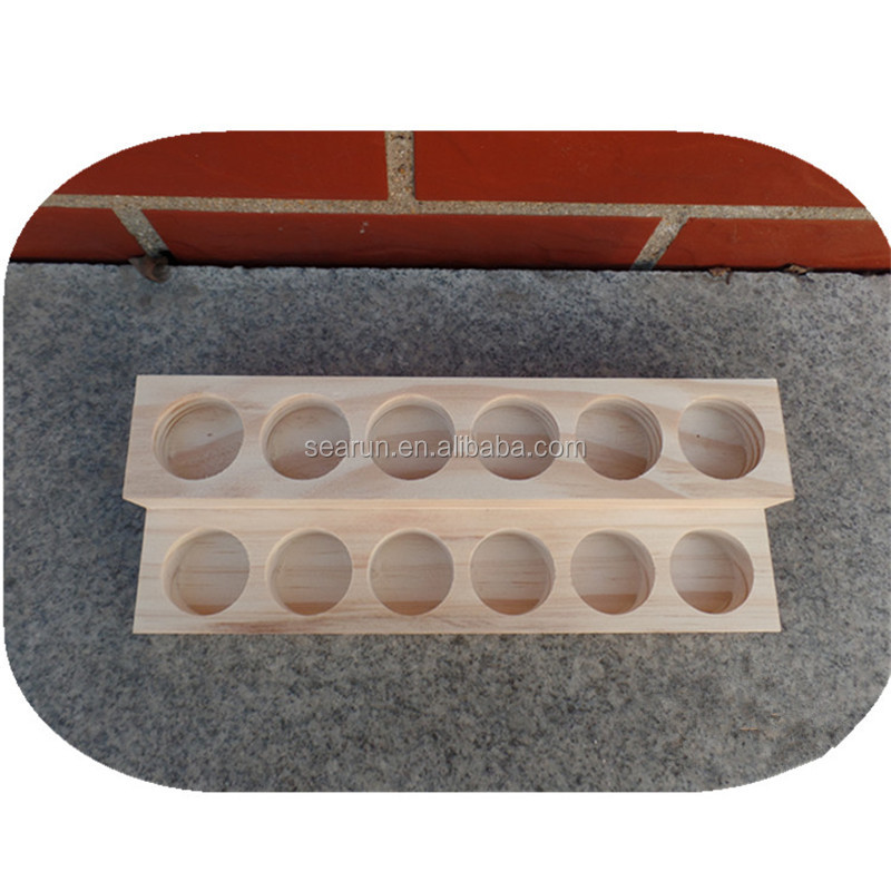 China Supplier wooden Dispaly Bottle Rack for essential oil