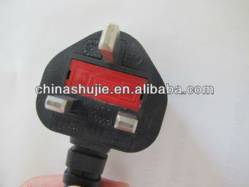 2013 New uk ac electrical plug with 16A fuse power adapter
