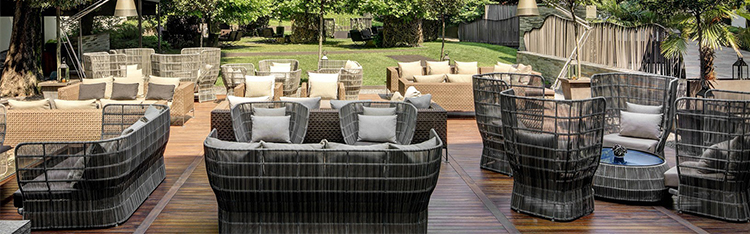 Factory wholesale modern luxury high quality waterproof loveseat rattan outdoor sofa