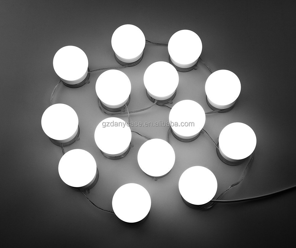 Hot Selling Hollywood DIY Vanity Lights Strip Kit for Lighted Makeup Dressing Table Mirror Plug in LED Light Fixture