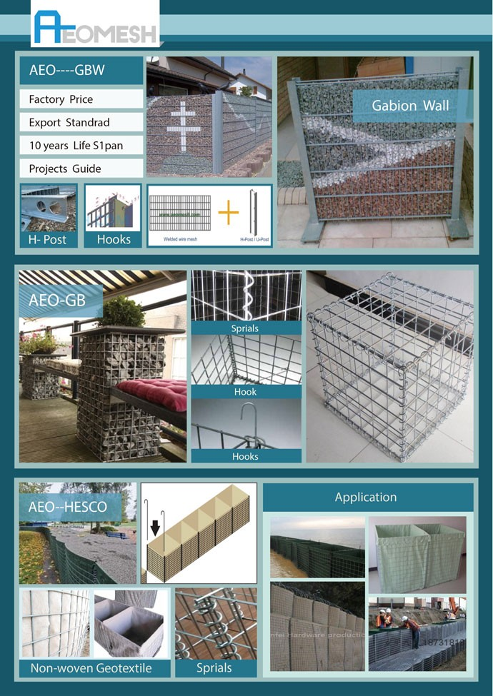 Effective Protection Of Dam gabion stone basket / gabion wall / gabion wall construction