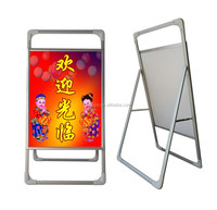single side portable poster stand shop sign board