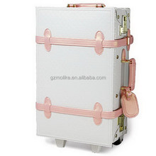 Innovative new arrival 4pcs set leather pu carry-on luggage