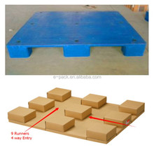 Heavy duty single faced style 4 way entry Plastic pallet substitute honeycomb pallet