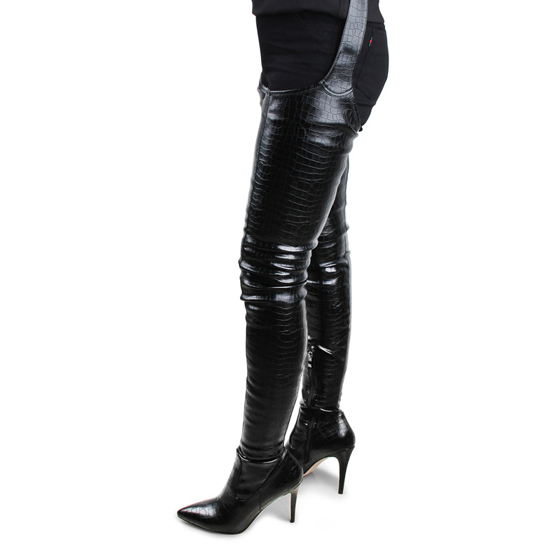 European Style Fashion Women High Heel <strong>Boots</strong> Sexy Ladies Stiletto Crotch High Pants <strong>Boots</strong>