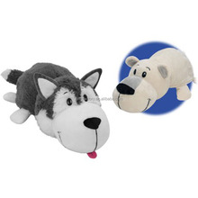 Flip Pets Pillow with 2 Sides of Monkey to Polar Bear Two pets in one as see on Tv