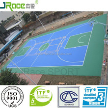 multi-function outdoor rubber flooring synthetic sport surface for high school