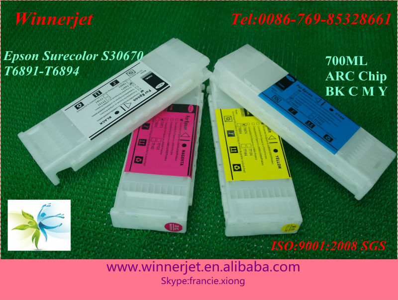 700ml auto reset chips for epson sure color s30670 ink cartridges