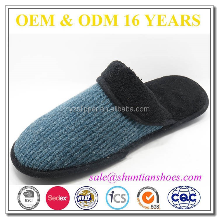 cheap wholesale very warm winter indoor slippers men from shuntian