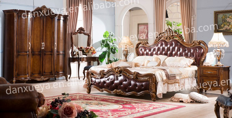 Cheap Wholesale White Brown Classic French European Style Antique MDF  Wooden 5 pieces Bedroom Furniture Set, View cheap wholesale furniture,  danxueya ...
