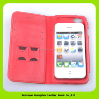 15120 With Photo Frame PU Leather Case For iPhone 5 5S 4 4S Phone Bag Wallet Style With Stand and Sim Card Holder