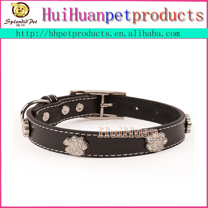 Best quality leather dog collar and leash