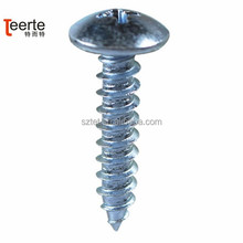 bright galvanized truss head tapping screw