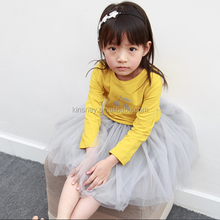 KS10032A Wholesale princess style baby girls solid color tulle skirt