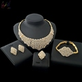 2018 Wholesale 18K gold plated Jewelry Sets Lots African Fashion Jewelry Sets for Women