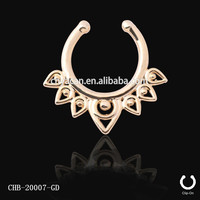 Sun god helios flame design nickel free nose rings