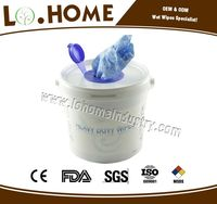 Industrial cleaning wet wipe with mini bucket
