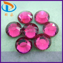 AAA Grade SS6-SS40 Fuchsia Color DMC Crystal Flatback Iron-on Hotfix Stones