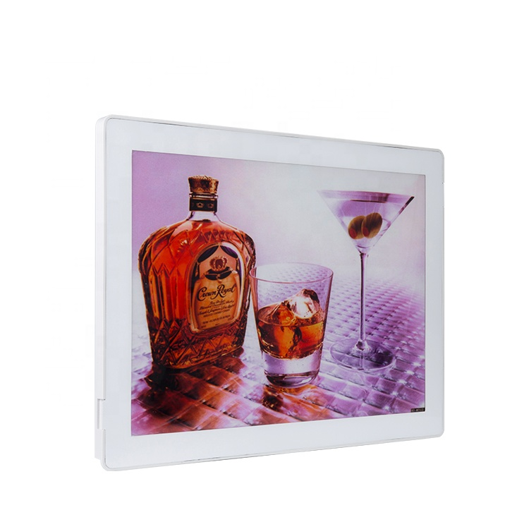 Slim advertising crystal acrylic light box led backlit magnetic menu board <strong>frame</strong> light box