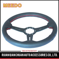 Sell well new type suede leather steering wheel