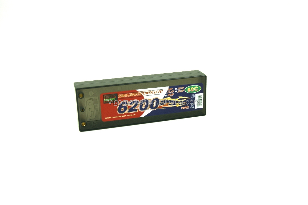7.4 volt lipo battery 2S 6200mAh 2cell 60C for Traxxas Rustler VXL 1/10 1/8 Electric Truck buggy Car