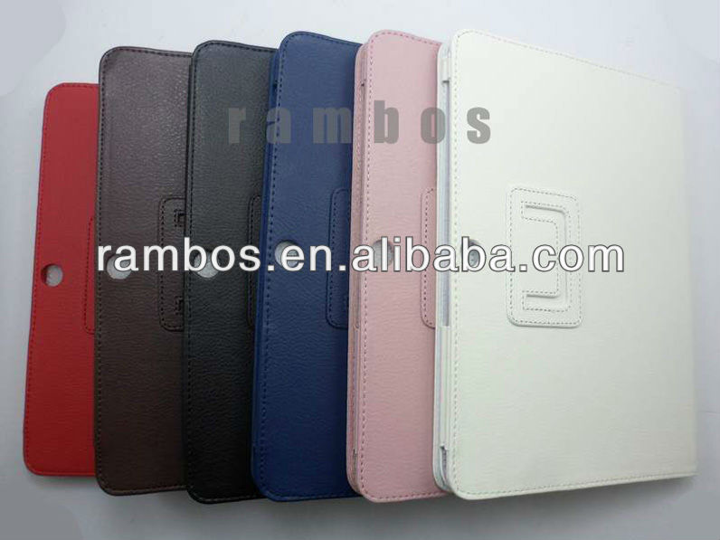 Book Leather Tablet PC Skin Flip Stand case for Samsung Galaxy Tab 2 10.1 P5100