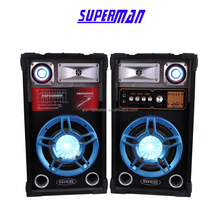 2015 Fashional Color Light 2.0 professional Speaker with DJ stage speaker stero subwoofer