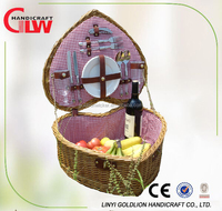 heart shape picnic basket for two person