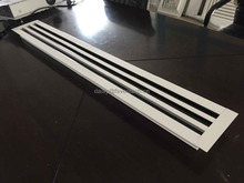 HVAC system aluminum linear exhaust slot diffuser grille