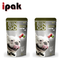 Factory supply 500g custom printed matt foil stand up bag for dog food