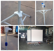 mobile portable stand tripod projection screen