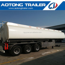 Tri-axle 36000 liters 6-8 compartment fuel tanker semi trailer for sale